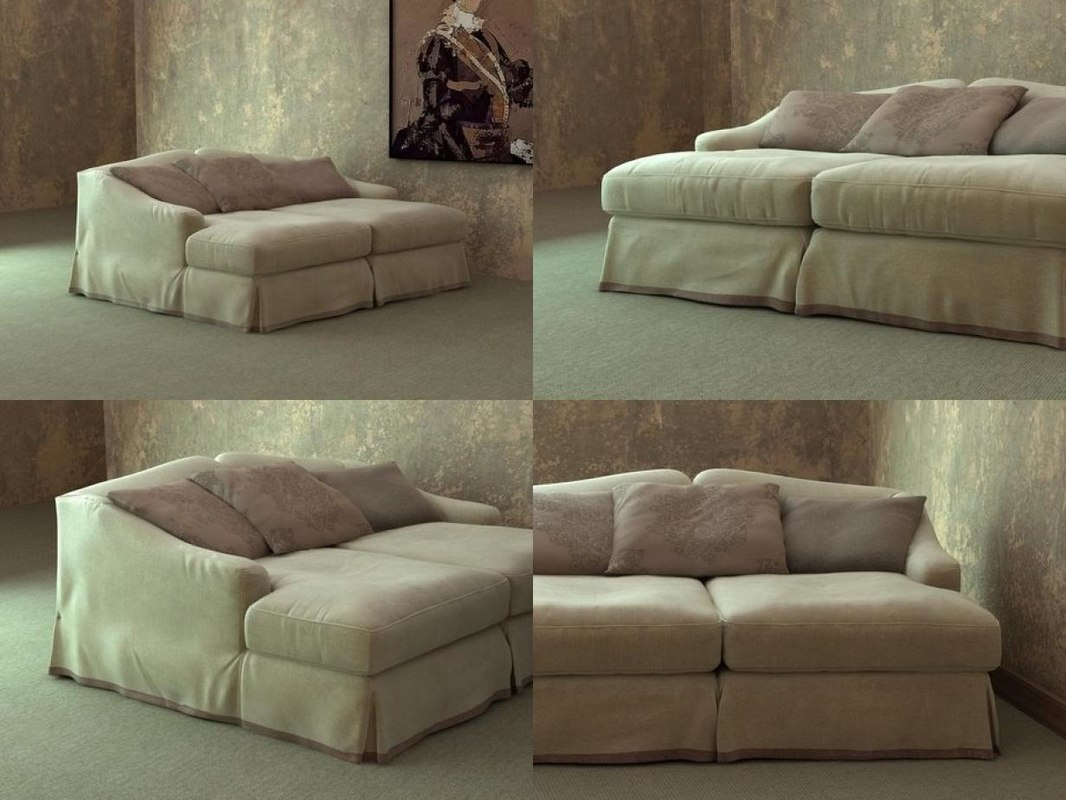 3D model fayence sofa