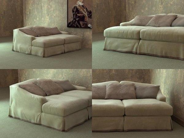 3D model fayence sofa