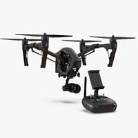 3D dji inspire 1 quadcopter model