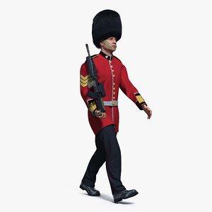 british royal guard soldier 3D