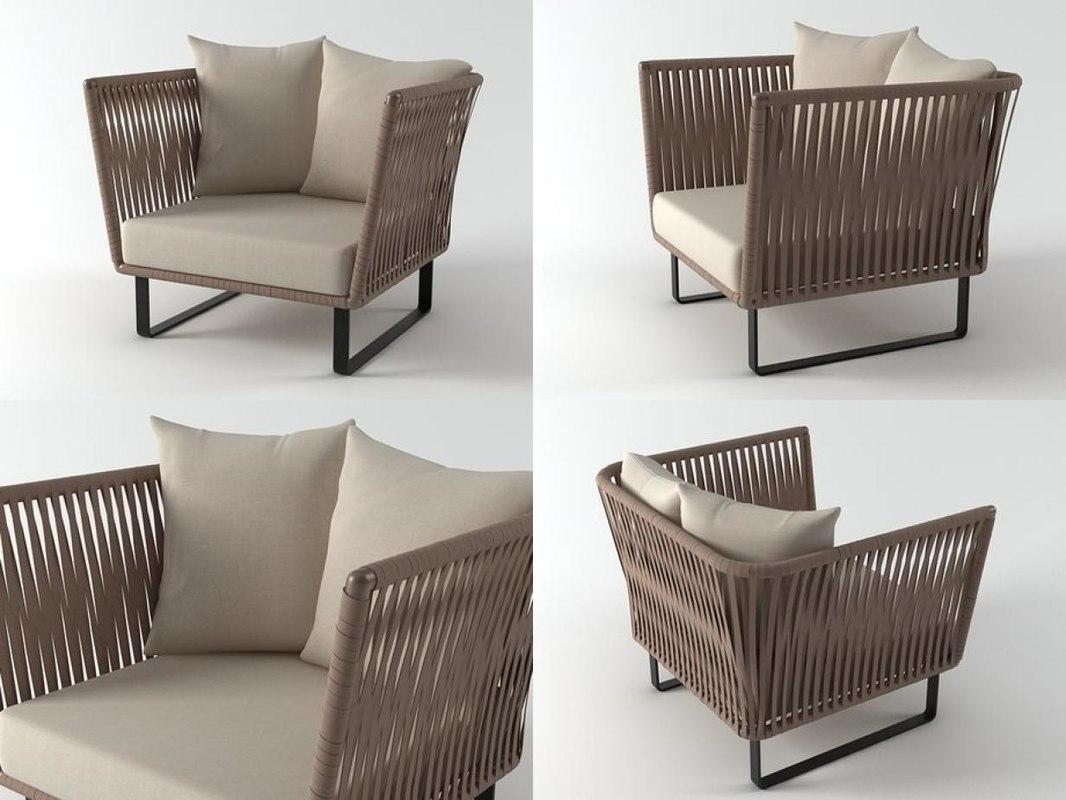 bitta club armchair model