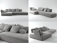 cove sofa 01 3D model