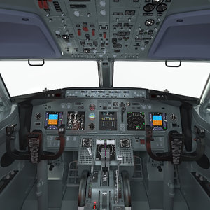 boeing 737 cockpit 3D model