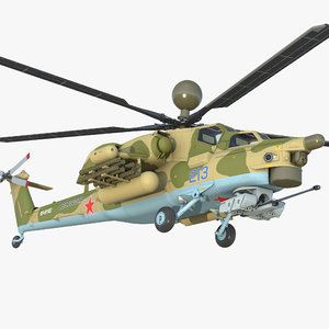 3D attack helicopter mi 28n model