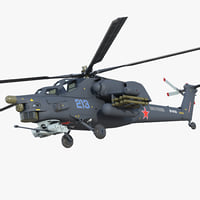 attack helicopter mi 28h 3D
