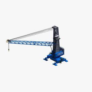hmk 300e mobile crane 3D model