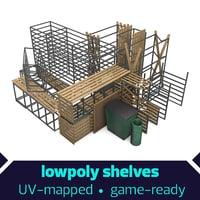shelves cork 3D model
