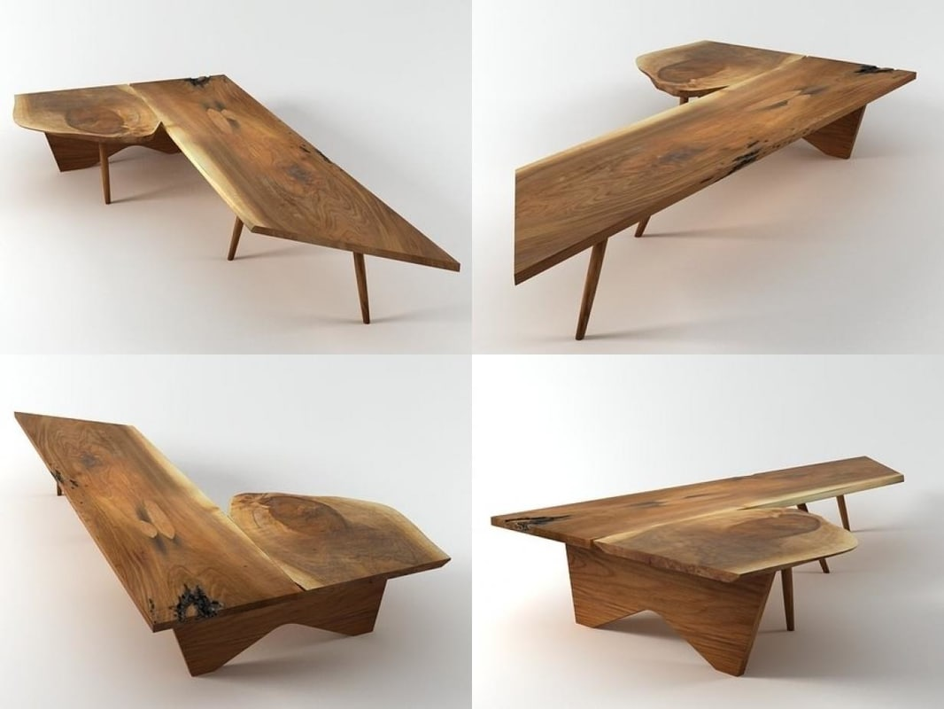 coffe table bench n 3D