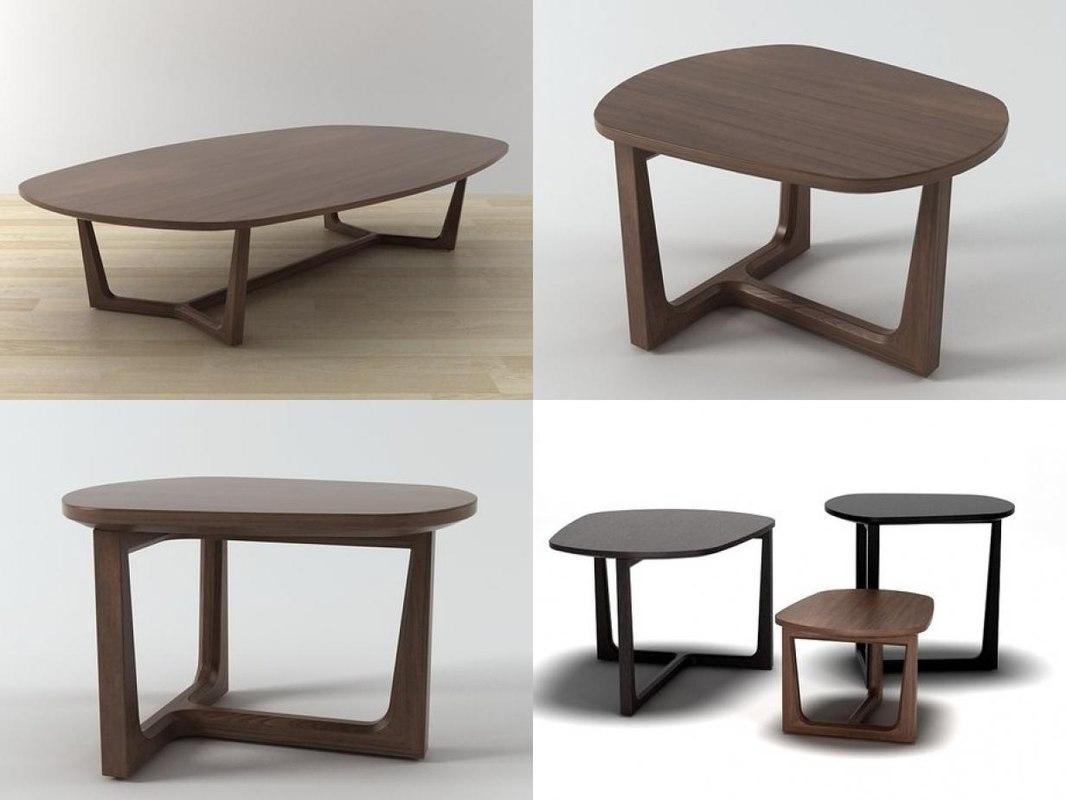 tridente coffee tables 3D model