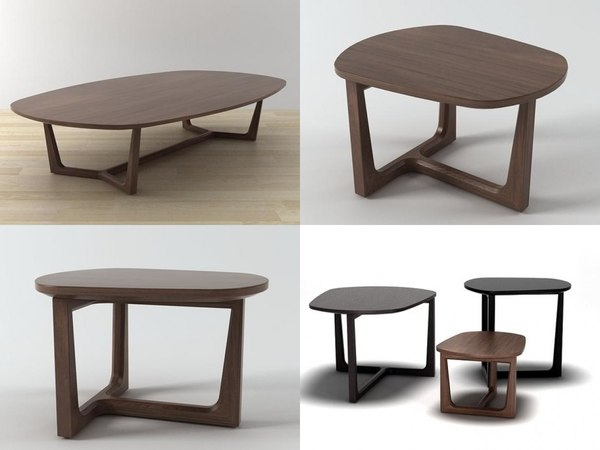 tridente coffee tables 3D model