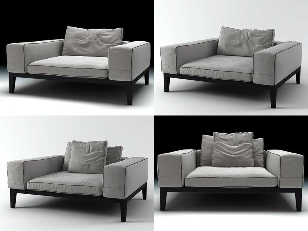 lifewood armchair 3D model