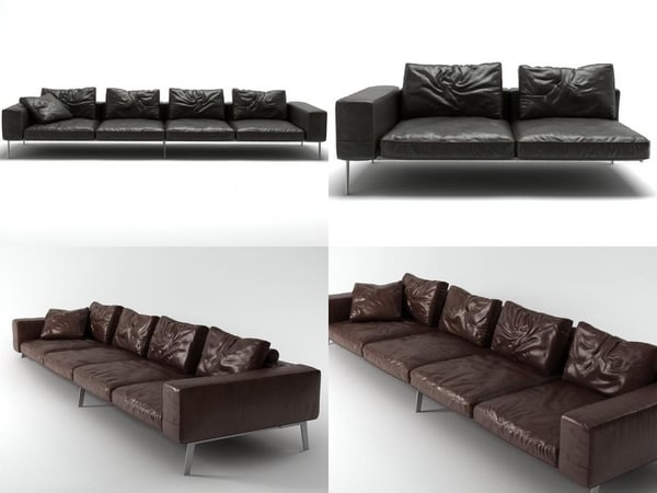 lifesteel sofa 355 3D model