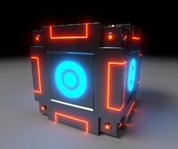 Sci-Fi cube model