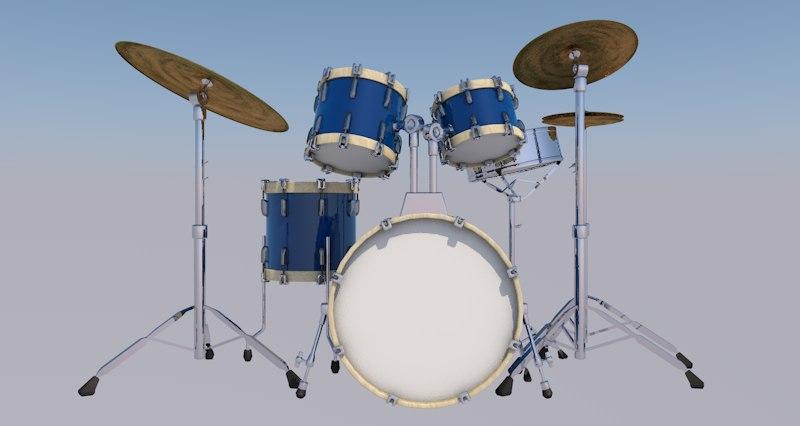 3D model drum kit