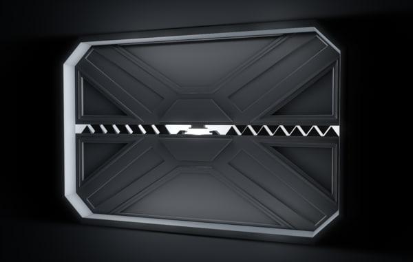 3D opening door animation
