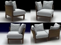 3D rosetta small armchair
