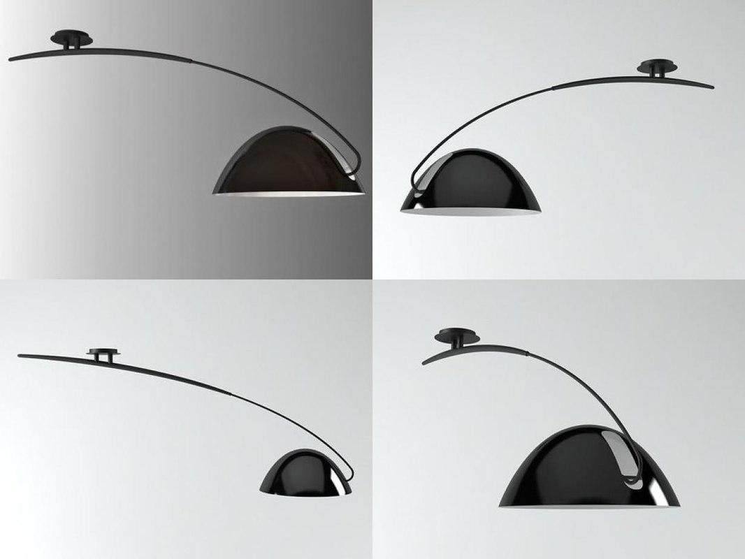 pluma pendant lamp 3D model