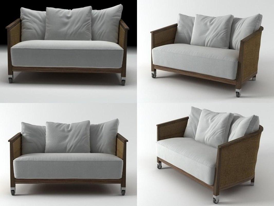 3D mozart sofa