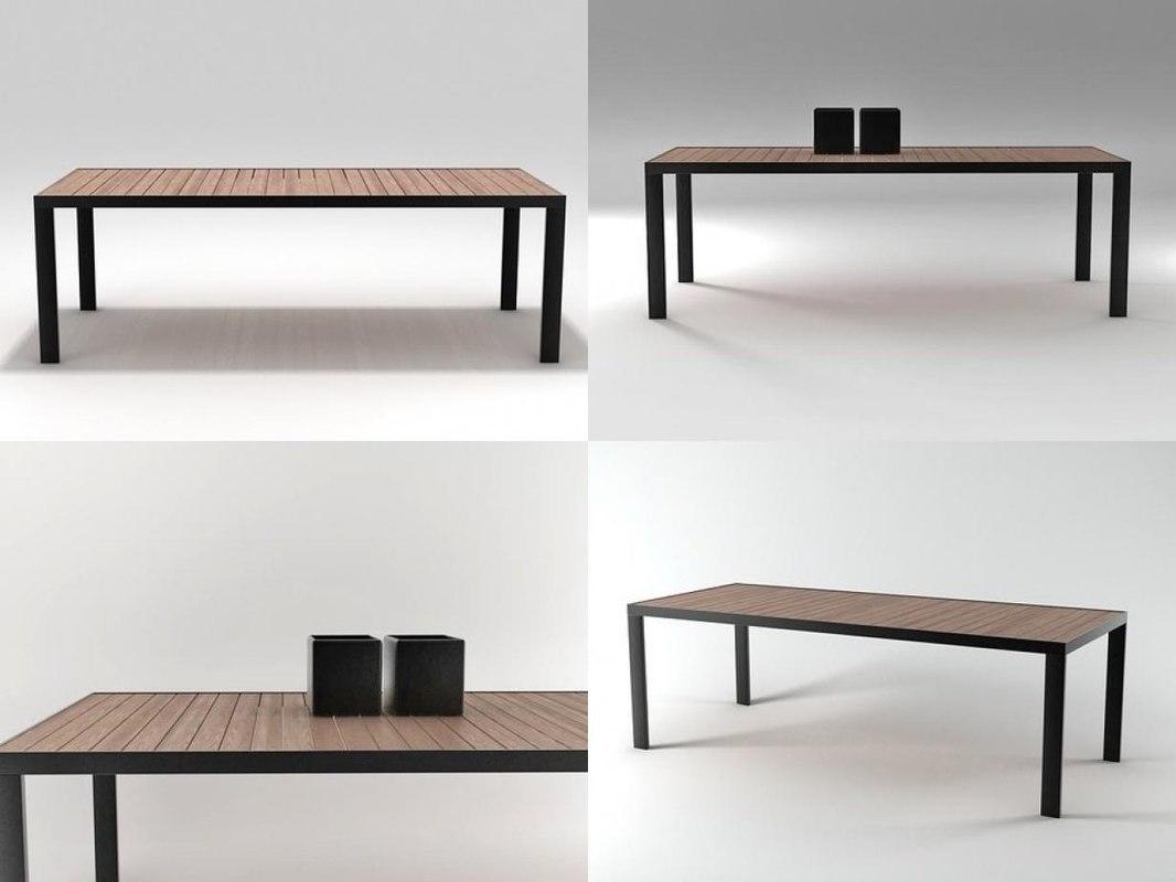 garden dinner table 3D model