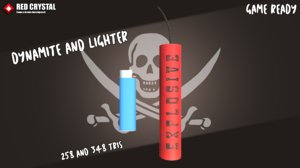 3D model dynamite lighter