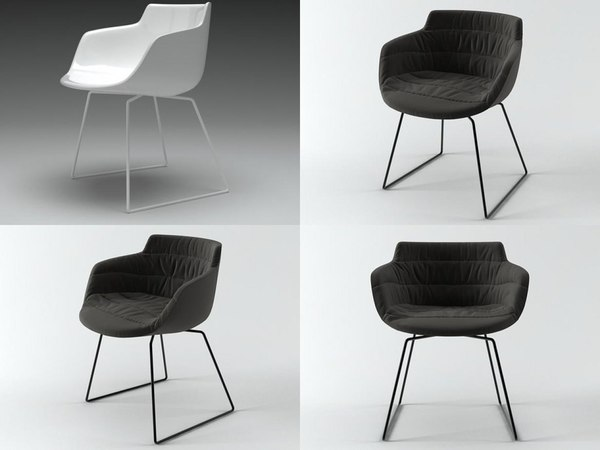 flow armchair sled base 3D model