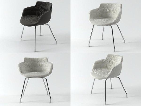 3D flow armchair 4 legs