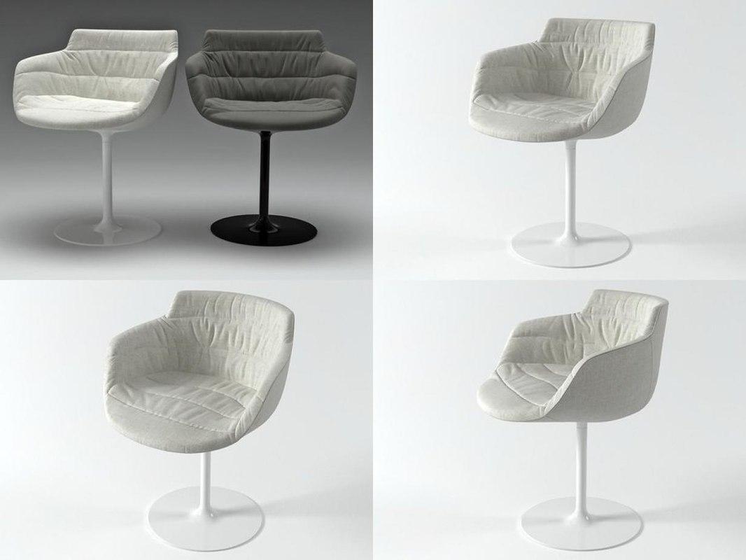 3D flow armchair-central leg model