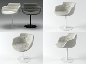 3D flow armchair-central leg model