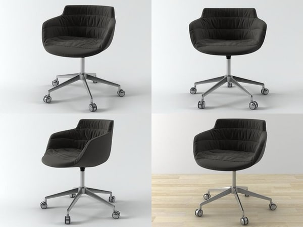 3D flow armchair 5-star base