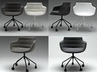 flow armchair 5 legs 3D model