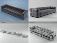 strips sofa 95 310 3D model