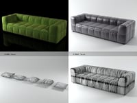 3D strips sofa 95 250