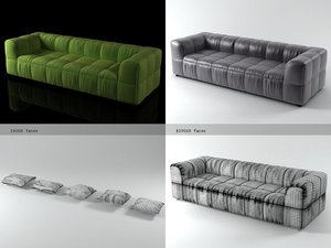 3D strips sofa 95 250