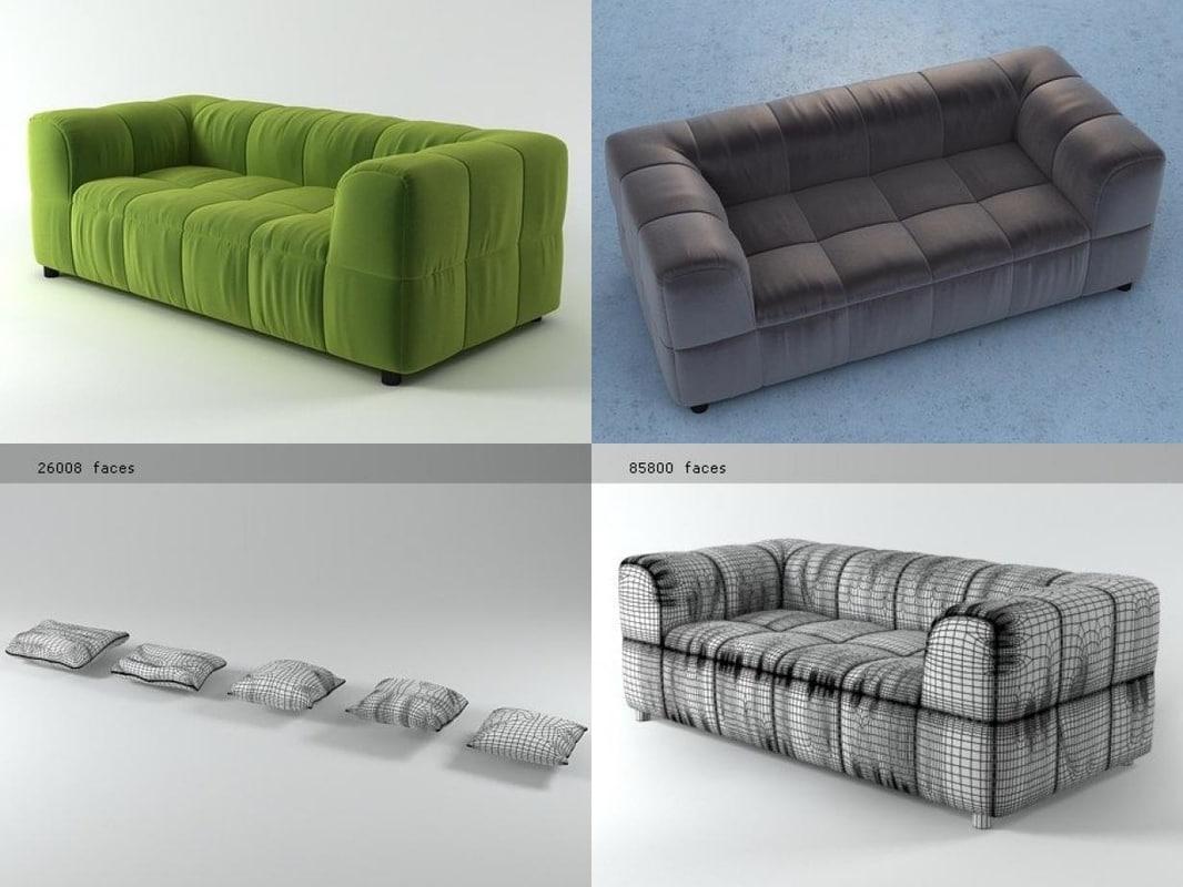 3D strips sofa 95 190 model