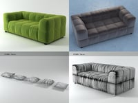 3D strips sofa 95 190 model