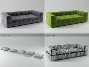 3D model strips sofa 125 250