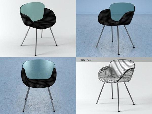 3D trance 4-legs chair