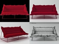 volant 3-seat sofa demi 3D model