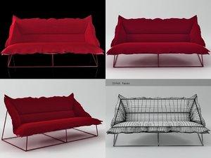 volant 3-seat sofa demi 3D model