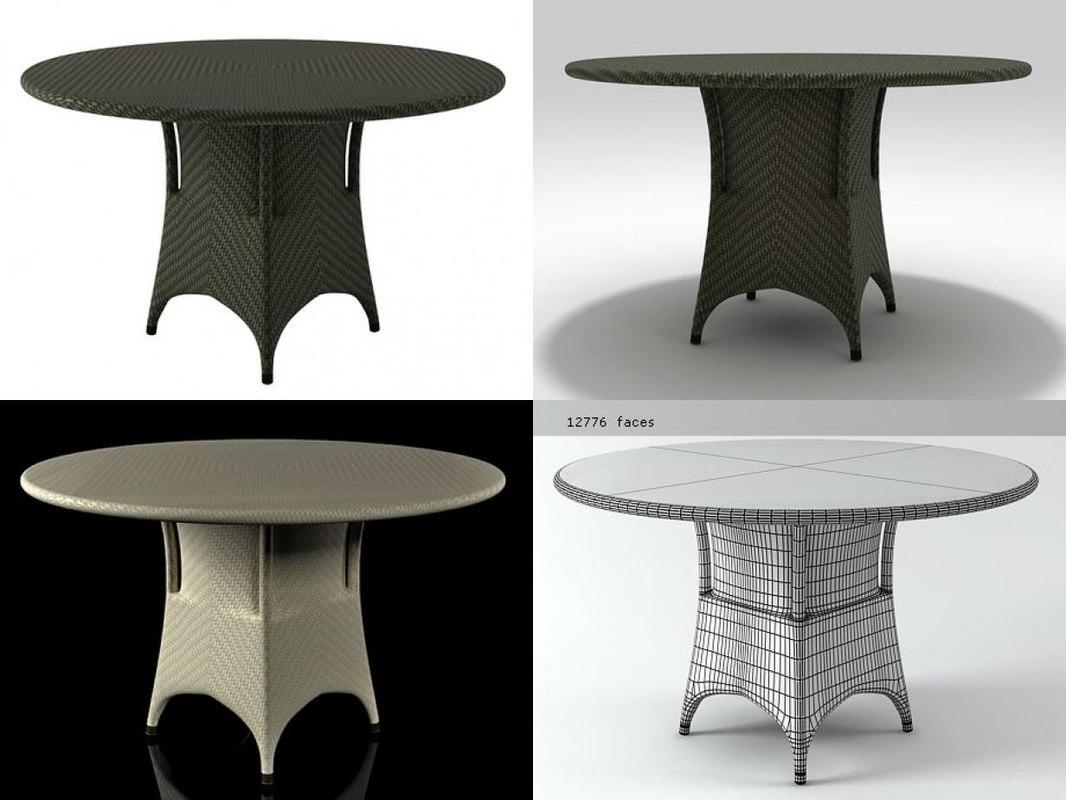 marrakesh dining table 3D model