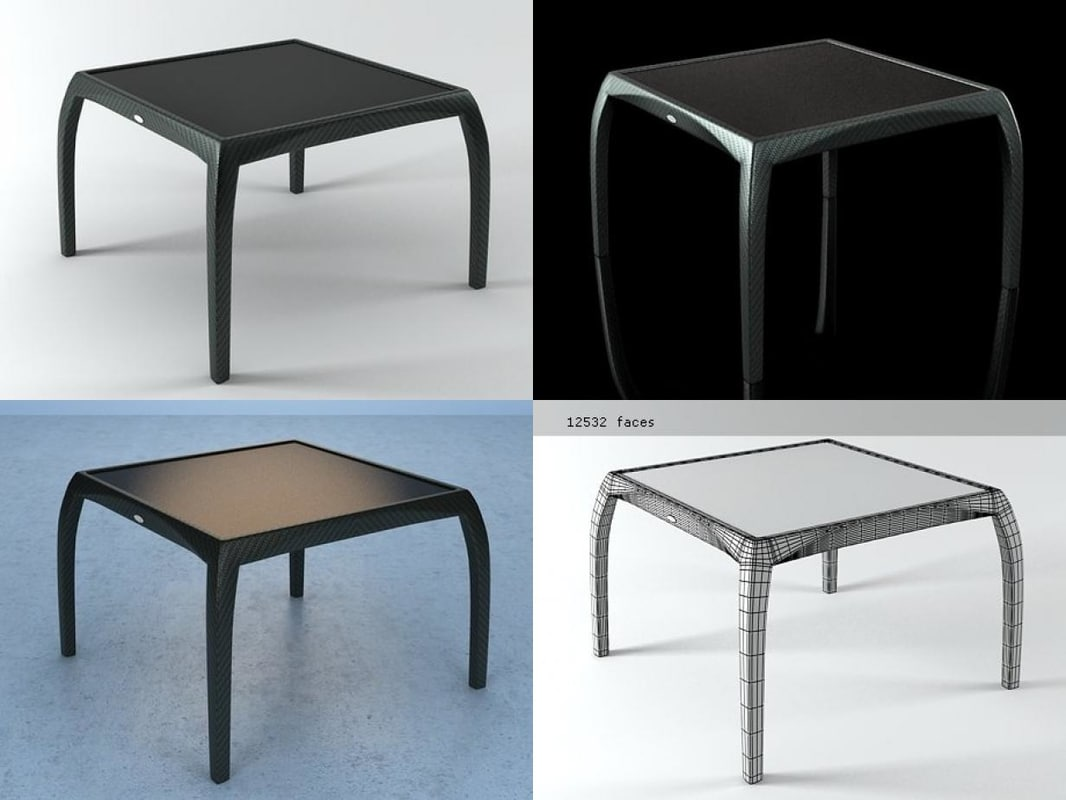 3D phoenix small dining table