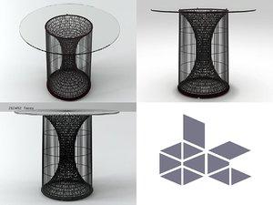 3D model amaya large dining table