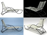 bronze chaise 3D model