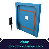 3D door games handle model