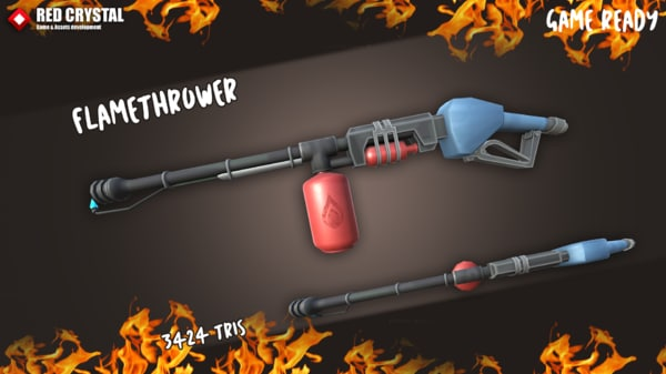 3D model flame thrower m