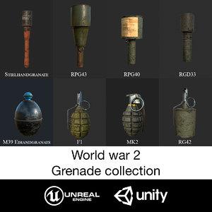 grenade eihandgranate 3D
