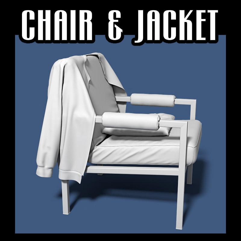 chair jacket 3D model