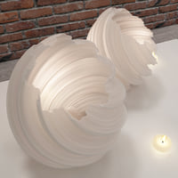 picture vase candle 3D