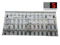 3D facade street model