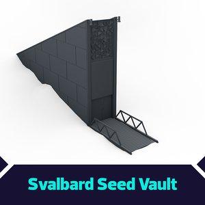norwegian svalbard global seed 3D model